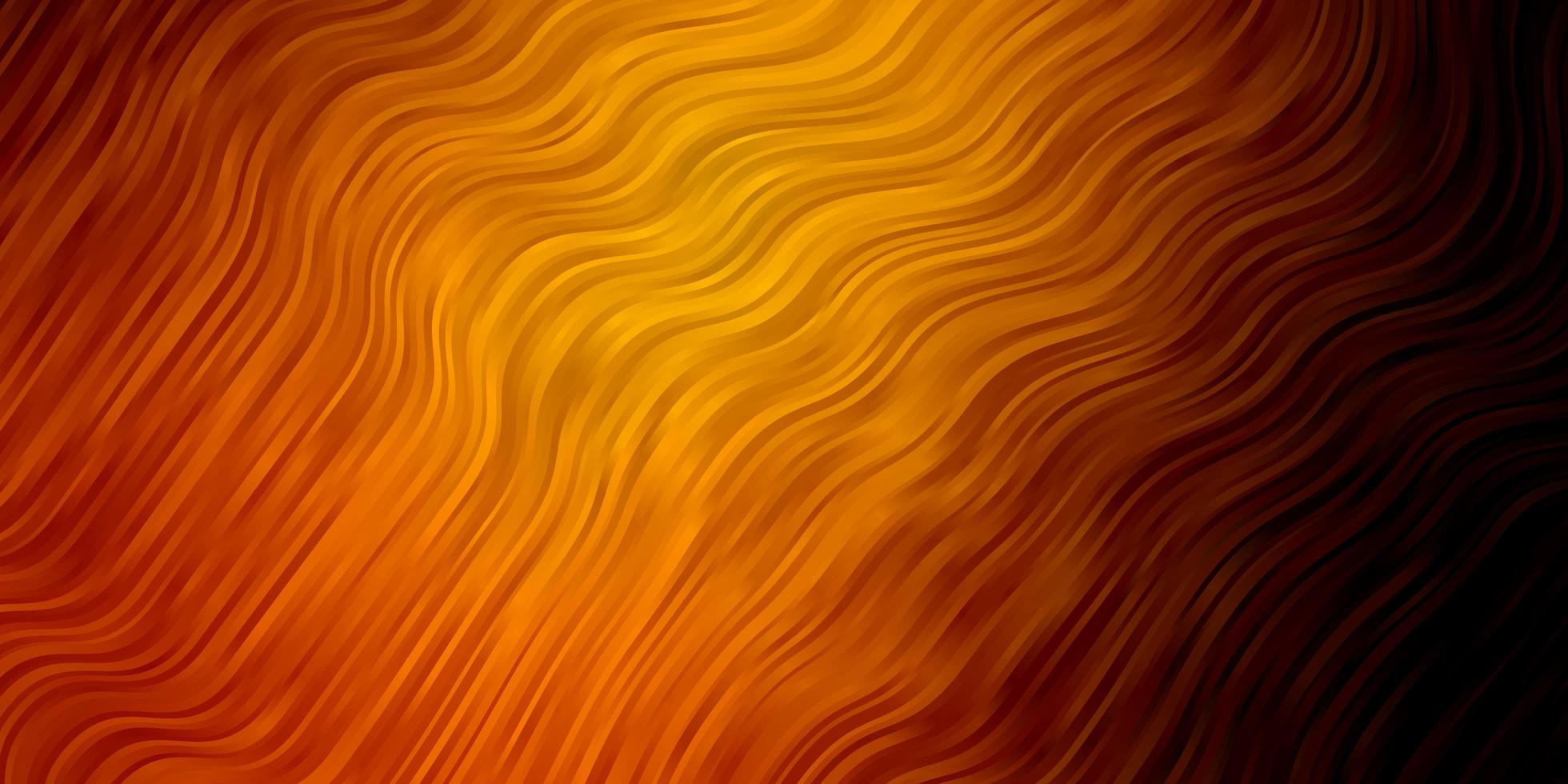 toile de fond de vecteur orange foncé avec des lignes pliées.