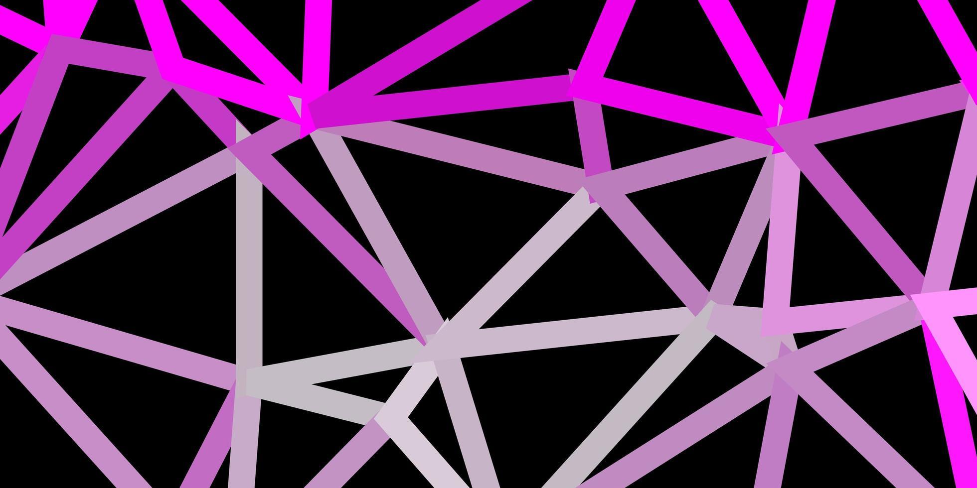 fond de triangle abstrait vecteur rose clair.