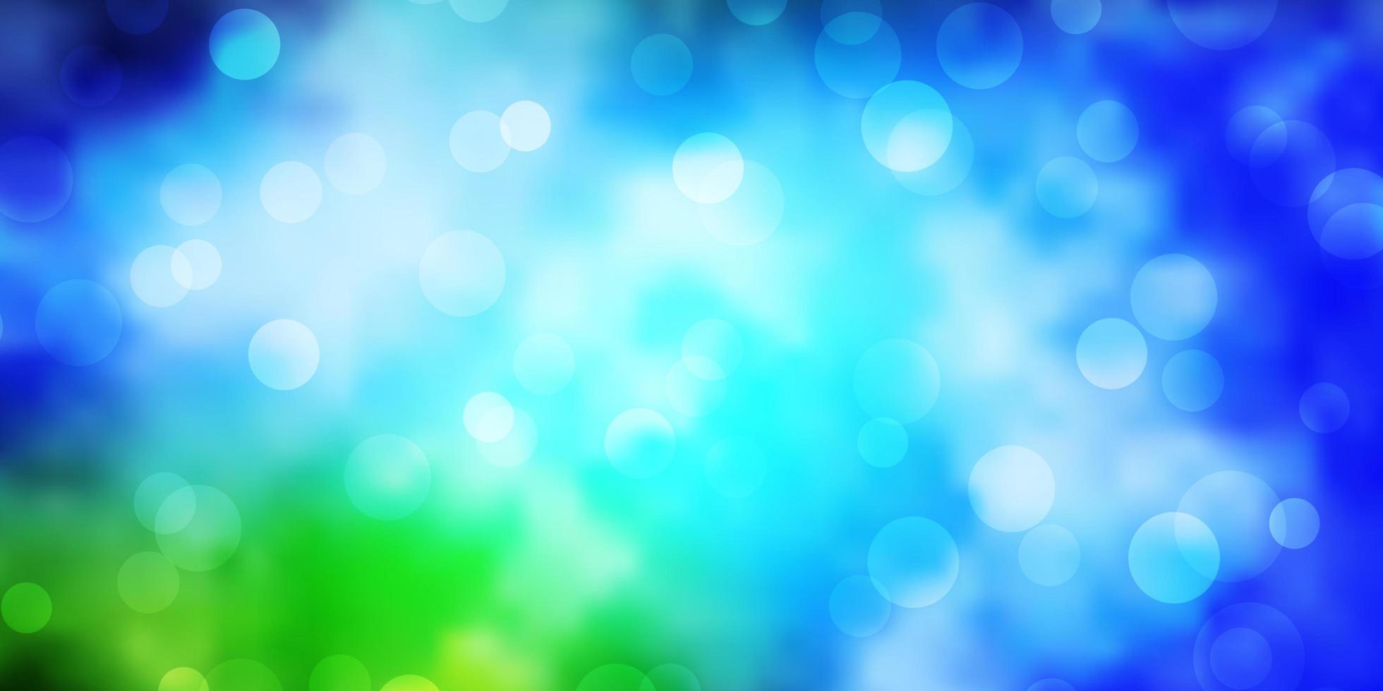 modèle vectoriel bleu clair, vert avec des cercles.