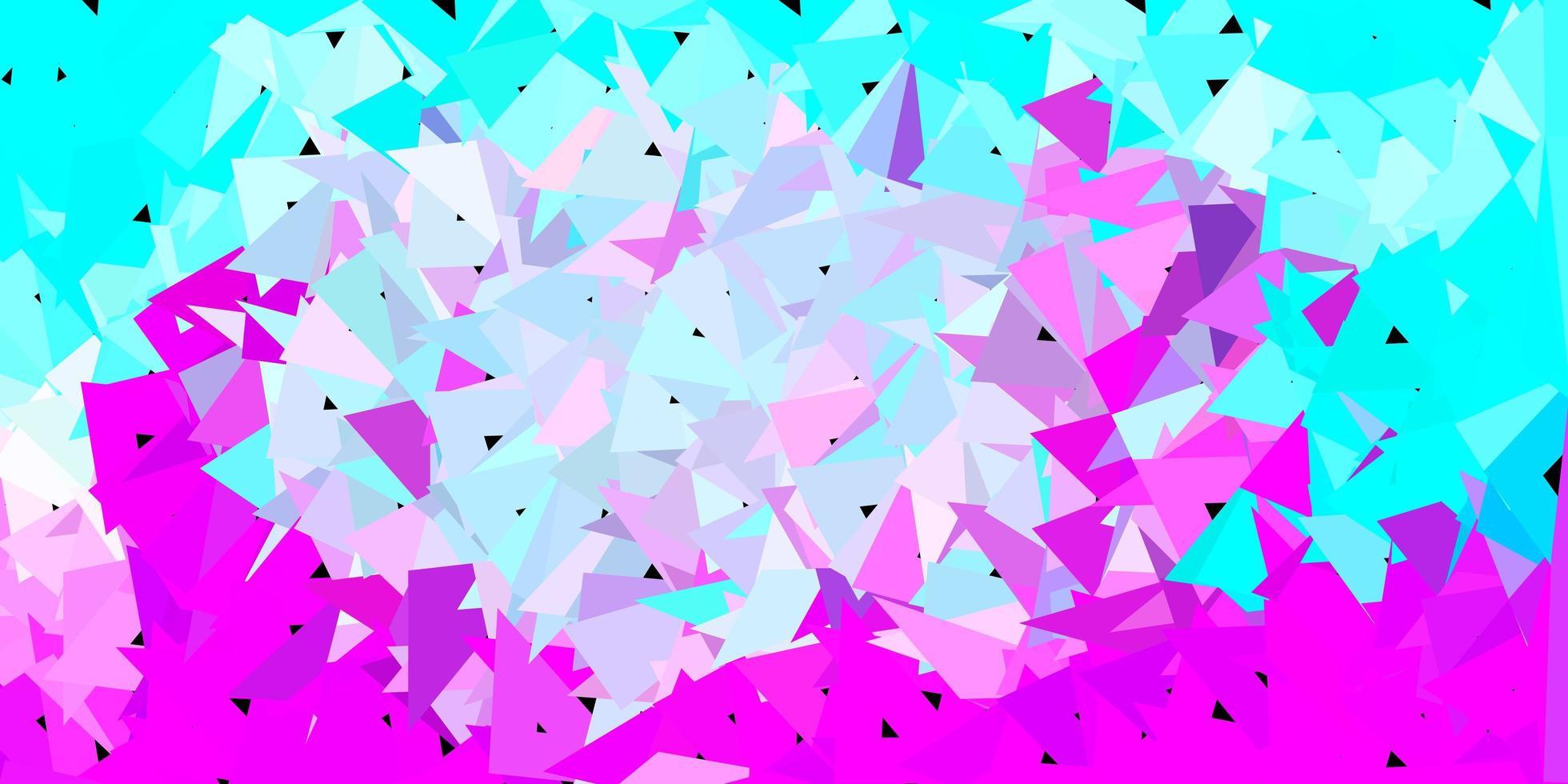 Disposition de triangle poly vecteur rose clair, bleu.