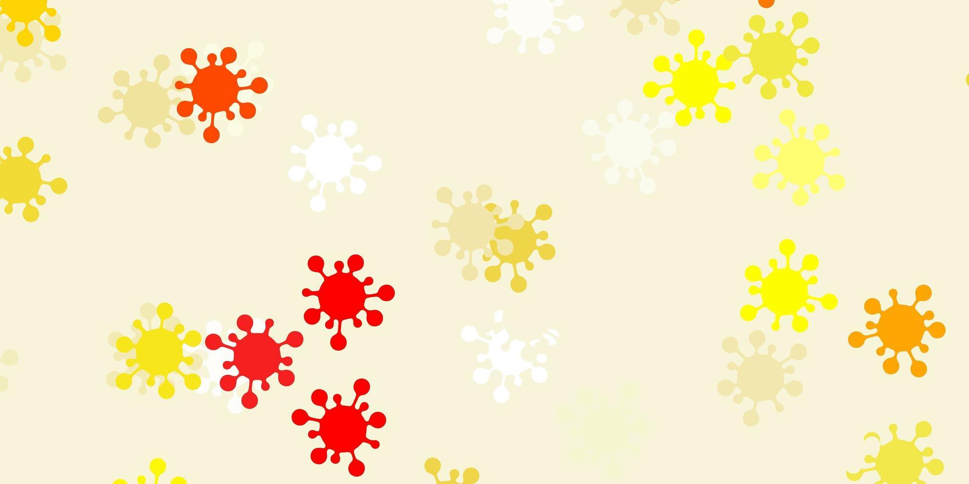 modèle vectoriel orange clair avec des signes de grippe