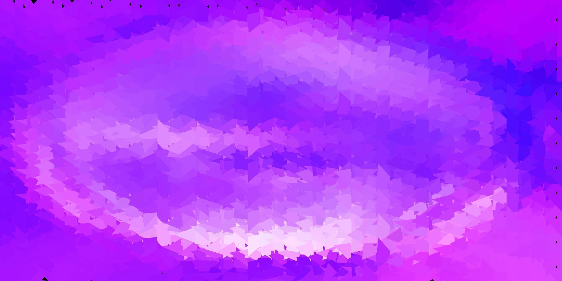 texture de triangle abstrait vecteur violet clair.