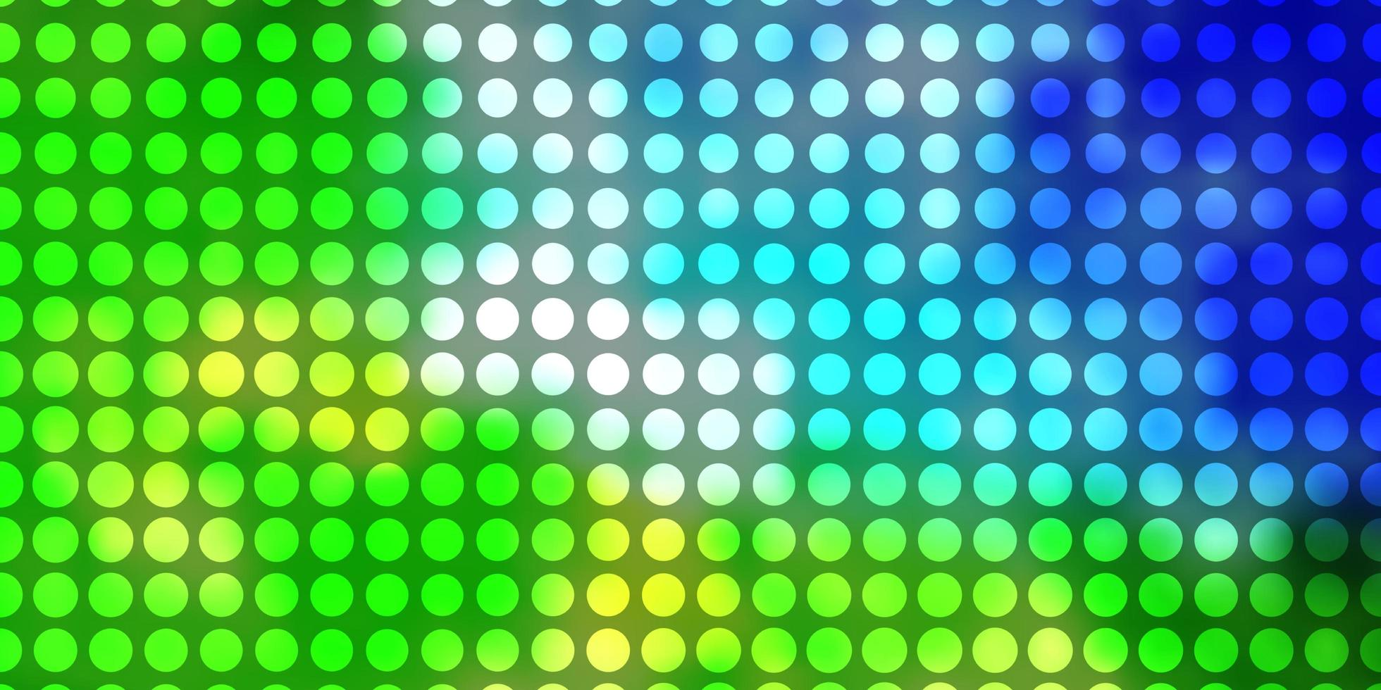 modèle vectoriel bleu clair et vert avec des cercles.