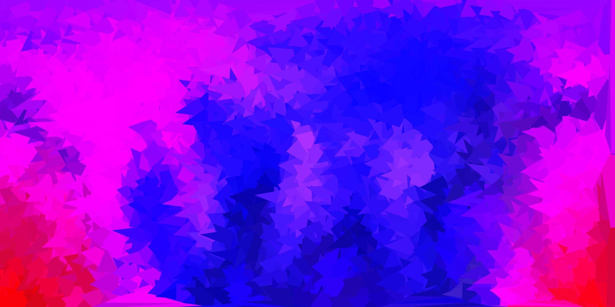 texture de triangle poly violet foncé, rose vecteur. vecteur