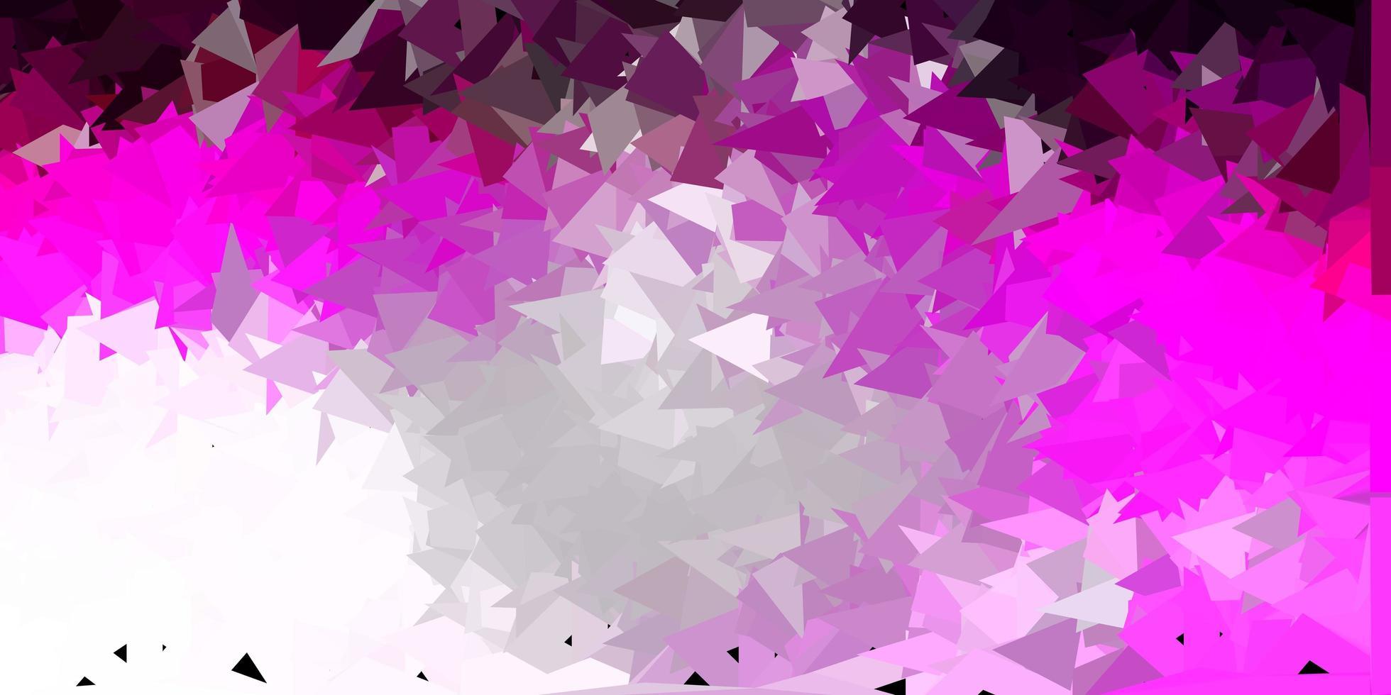 conception de polygone dégradé vecteur rose clair.