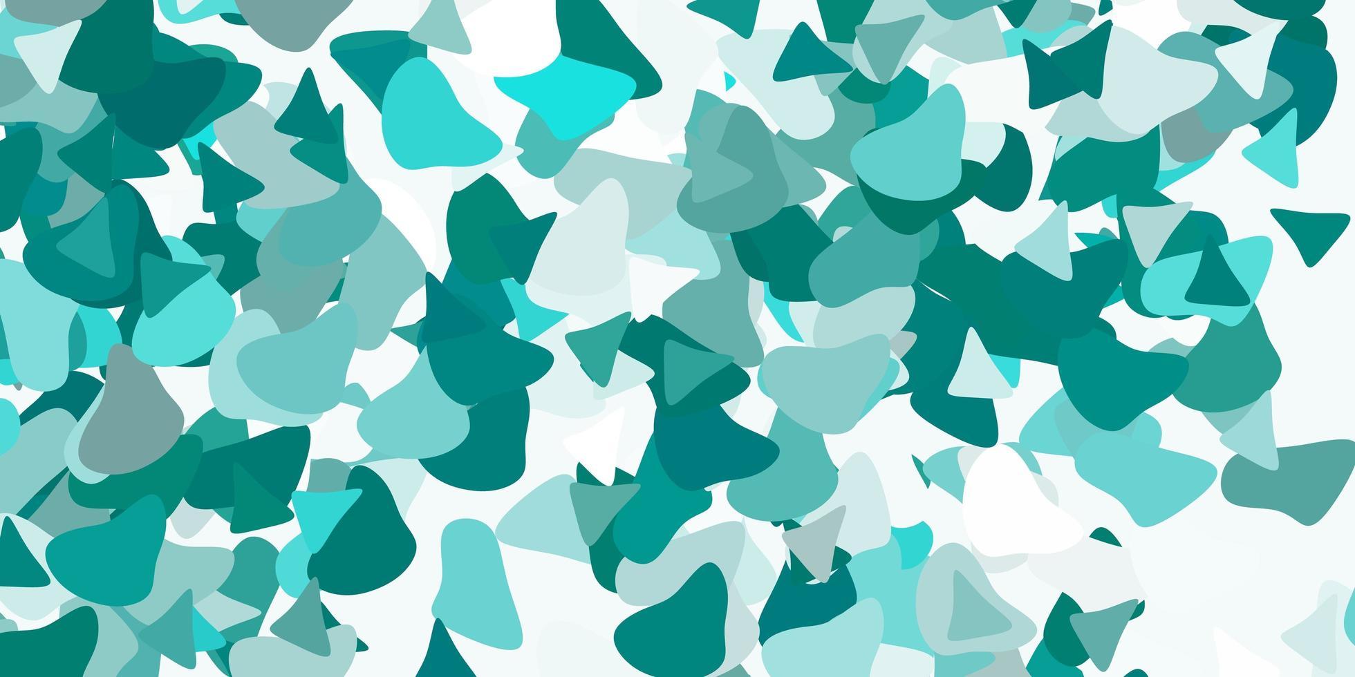 toile de fond de vecteur vert clair avec des formes chaotiques.