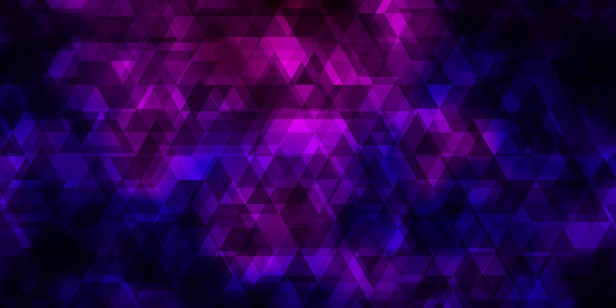 modèle vectoriel violet clair avec des lignes, des triangles.