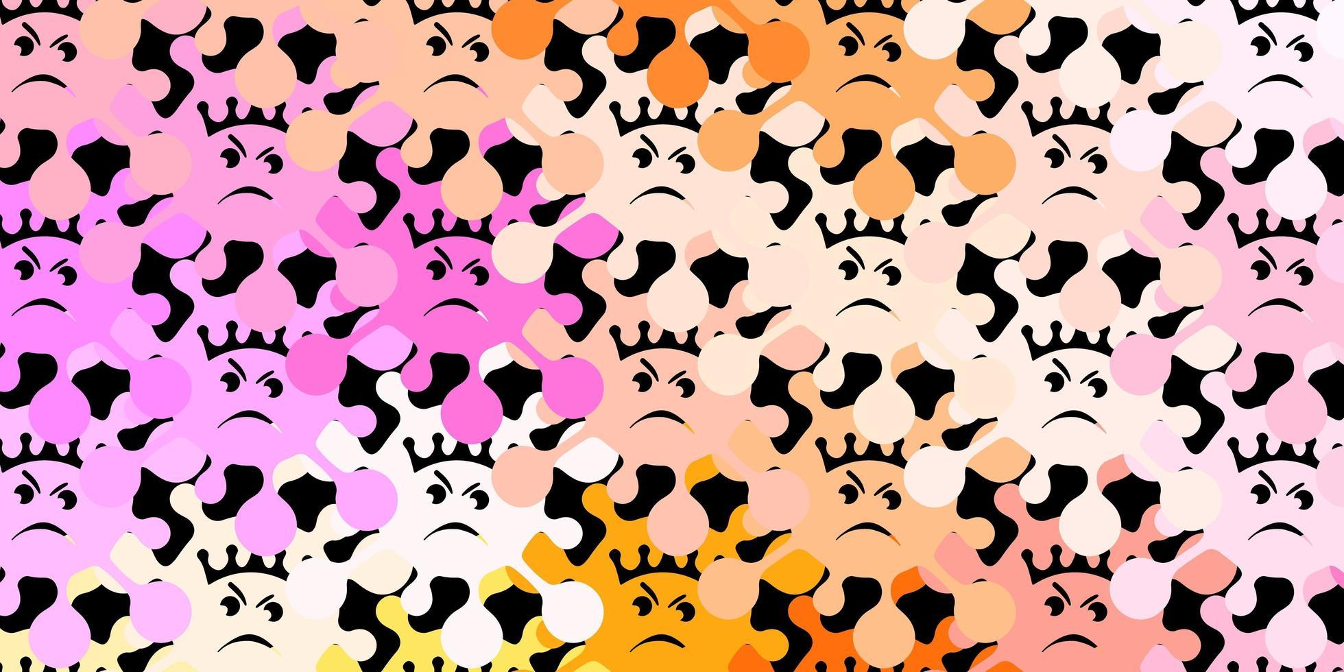 modèle vectoriel rose foncé, jaune avec des signes de grippe
