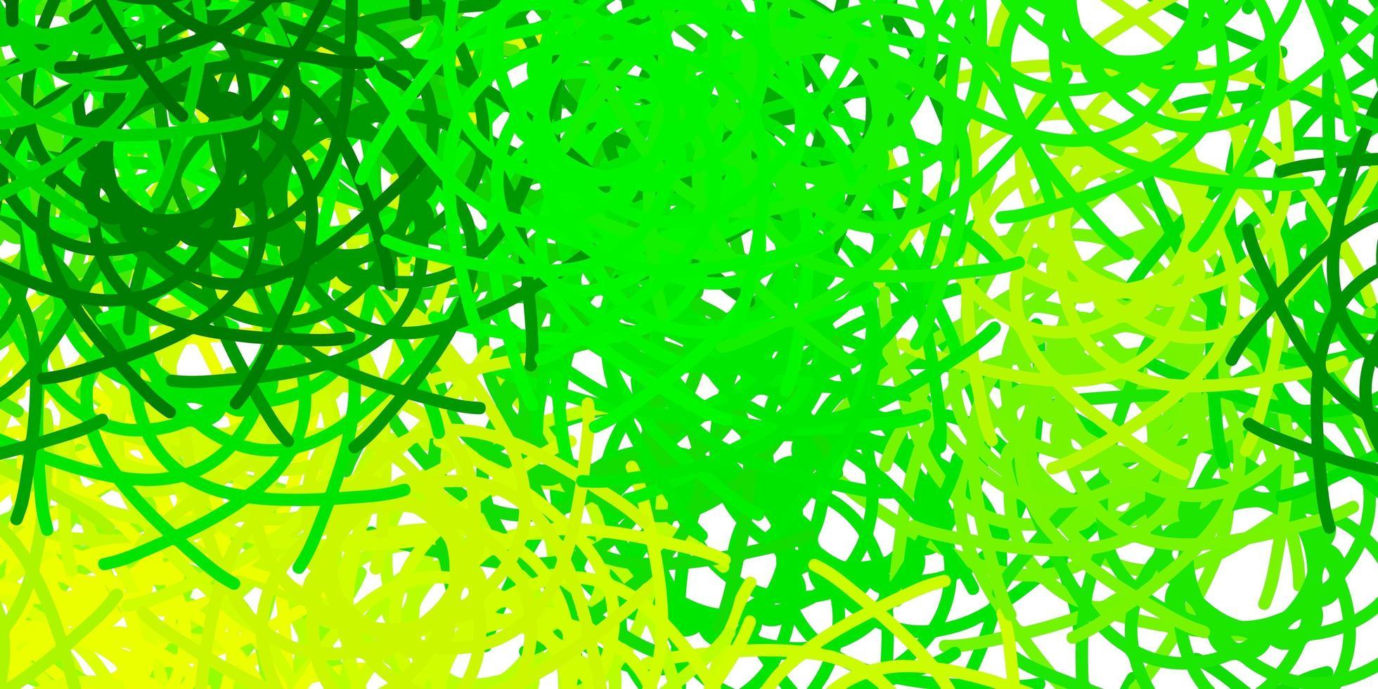 texture de vecteur vert clair, jaune avec des formes de memphis.