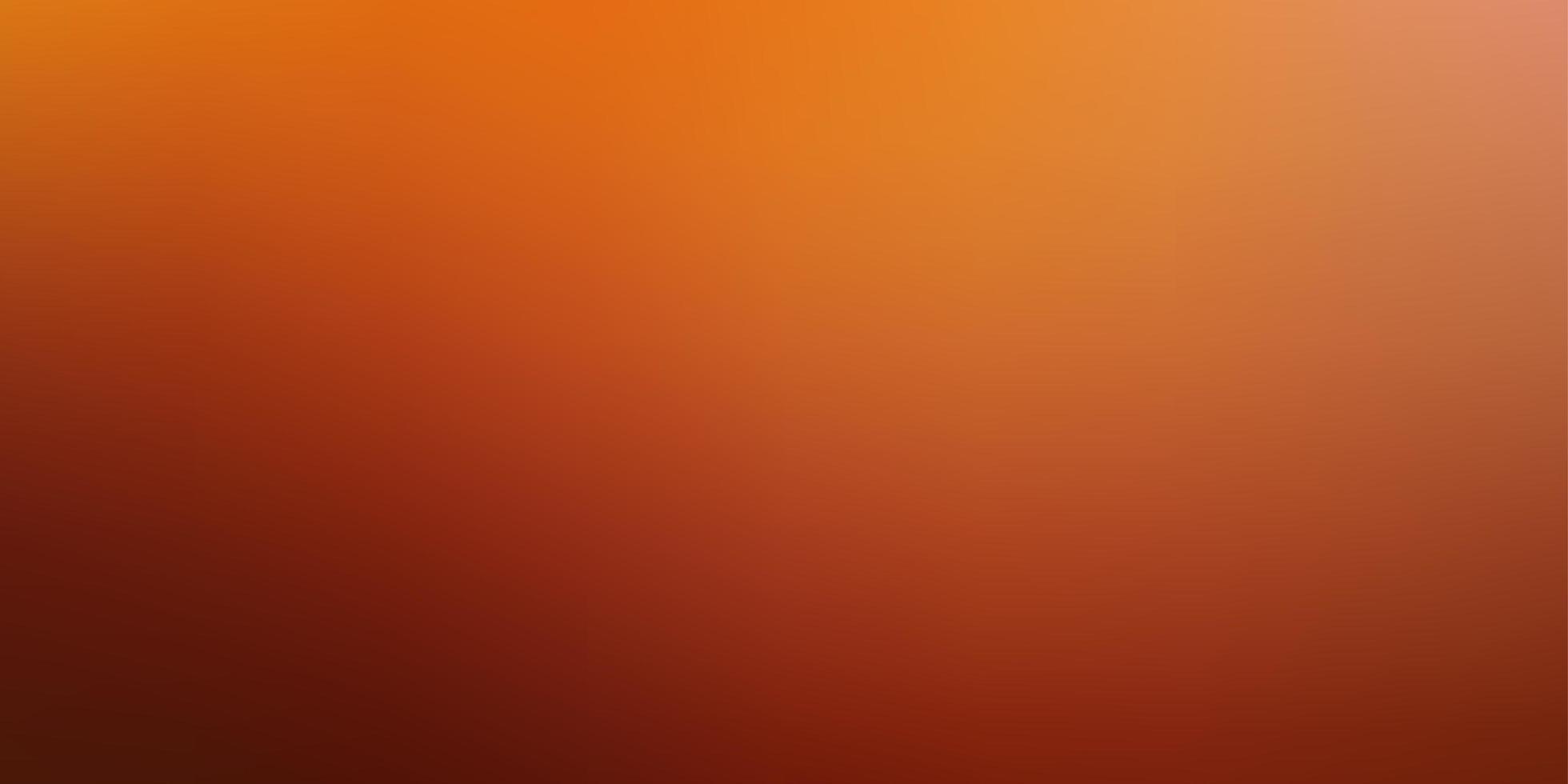 arrière-plan flou abstrait vecteur orange clair.