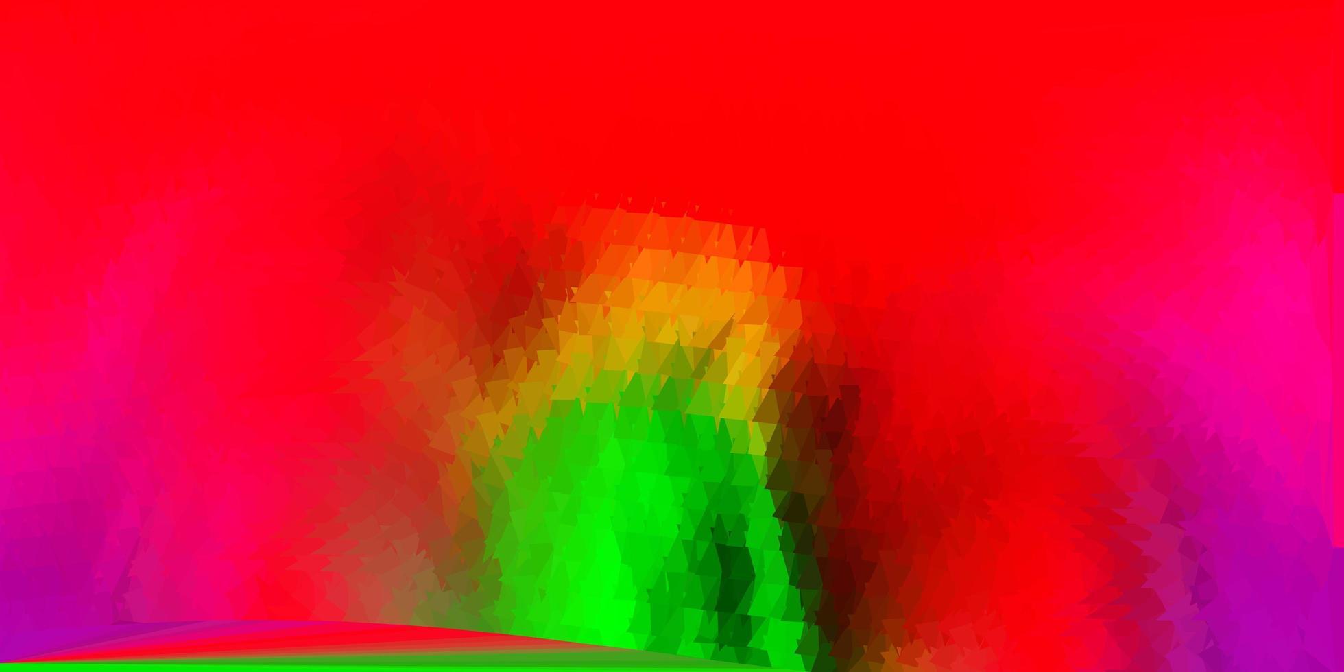 fond polygonale de vecteur rose clair, vert.