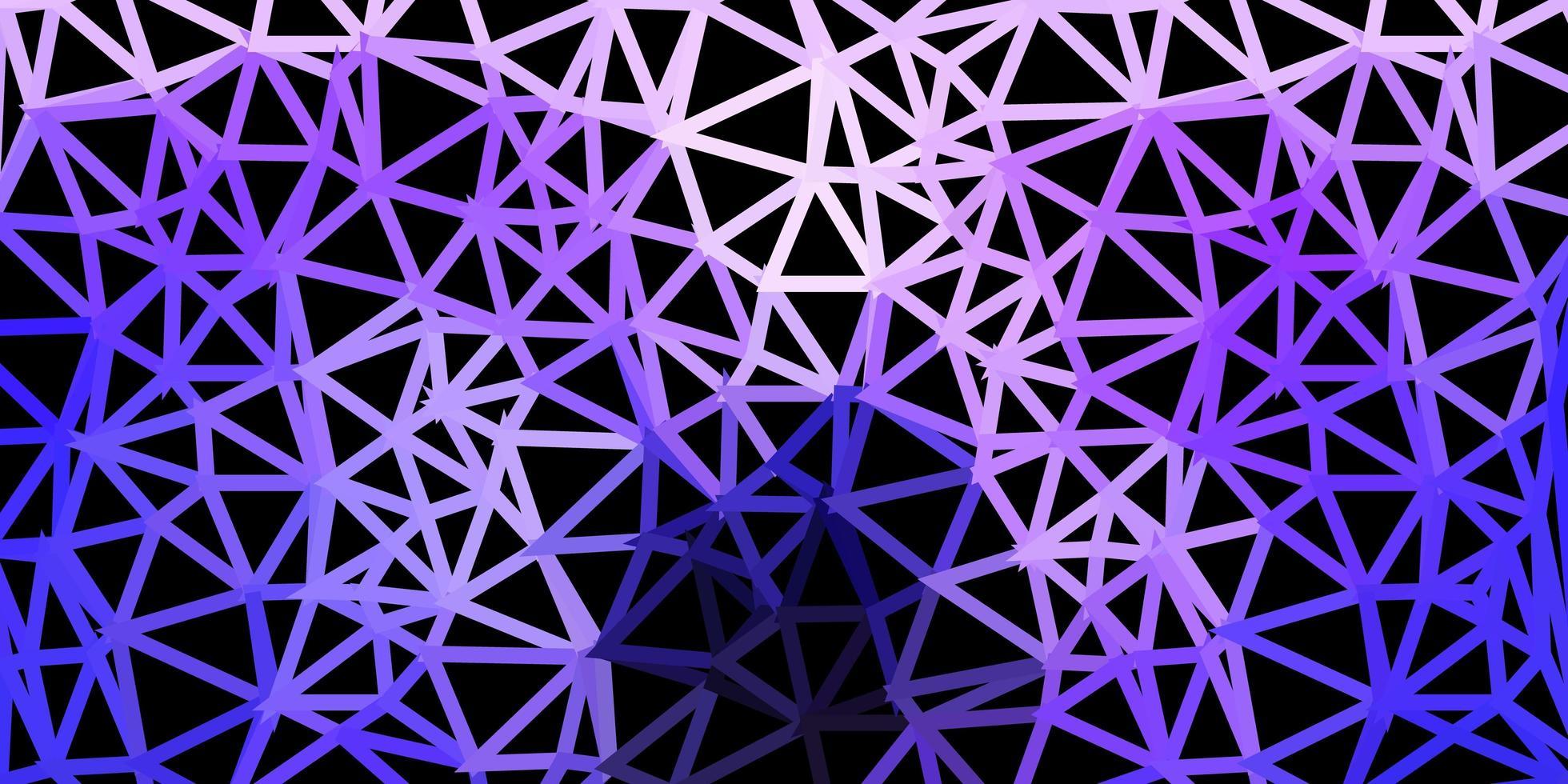 toile de fond polygonale vecteur violet clair.
