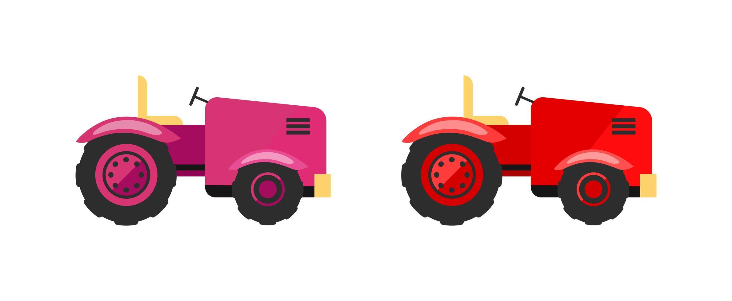 ensemble d'objets vectoriels plats tracteurs vecteur