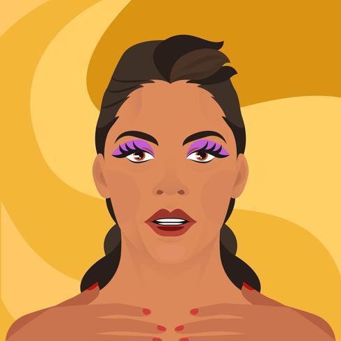 Beyonce Face Vector Illustration de dessin animé