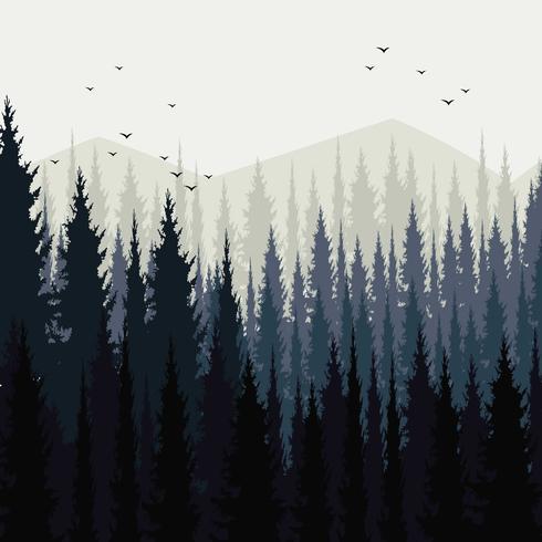 Paysage de forêt abstraite vecteur