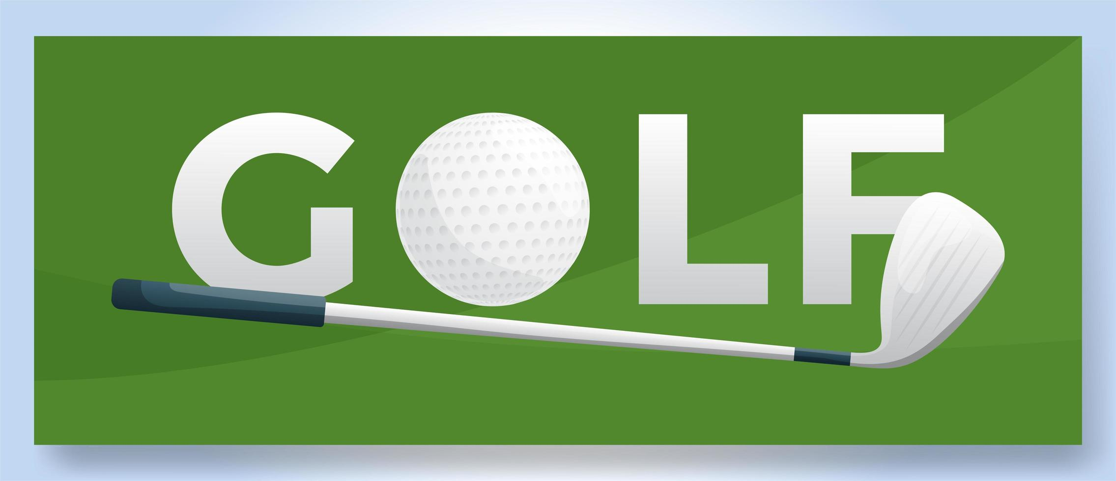 logo de golf de mot typographie vectorielle. logo de sport avec équipement pour illustration vectorielle de conception d'impression vecteur
