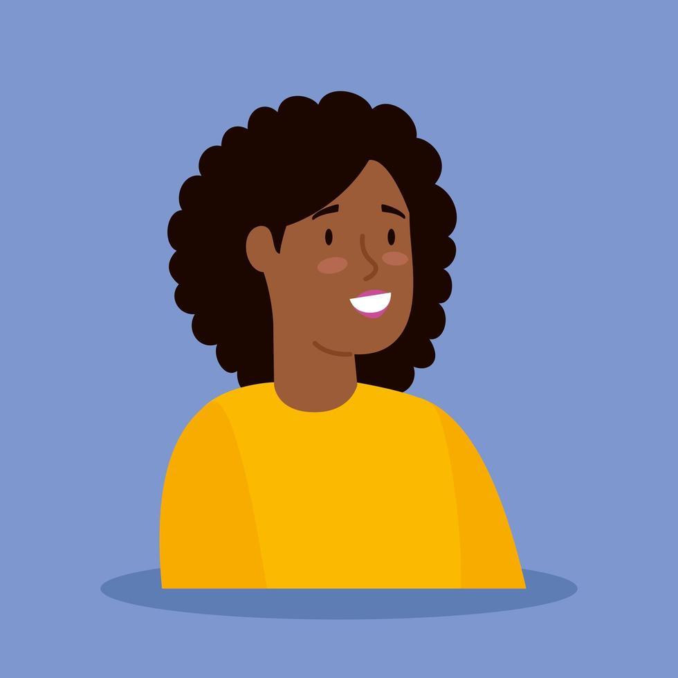 icône de personnage avatar descendant africain vecteur