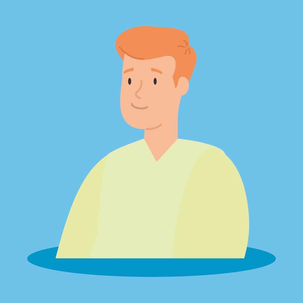 icône de personnage avatar jeune homme vecteur