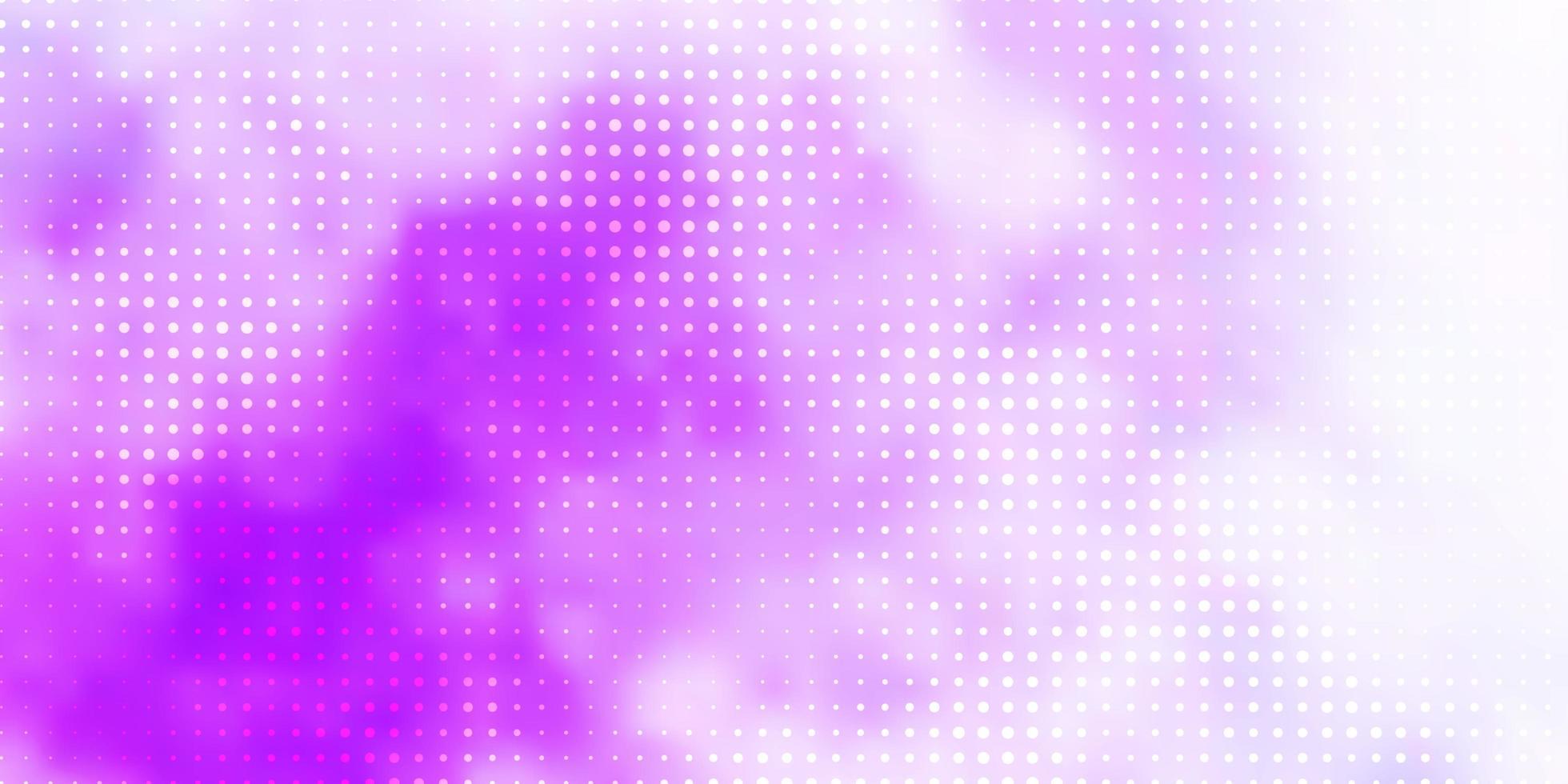 modèle vectoriel violet clair avec des sphères.