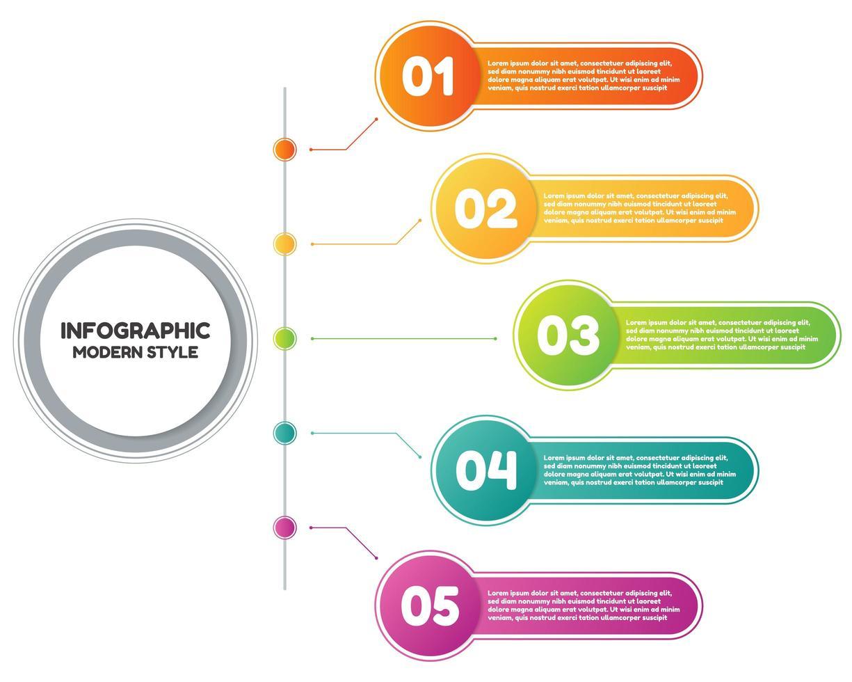 formes géométriques de style moderne infographique vecteur