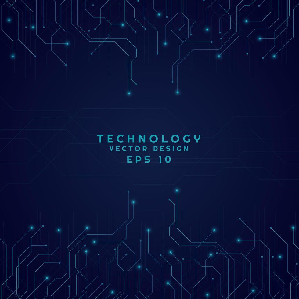 motif de ligne de technologie moderne vecteur