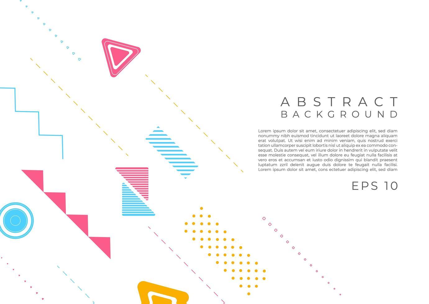 abstrait desgin de forme géométrique moderne vecteur