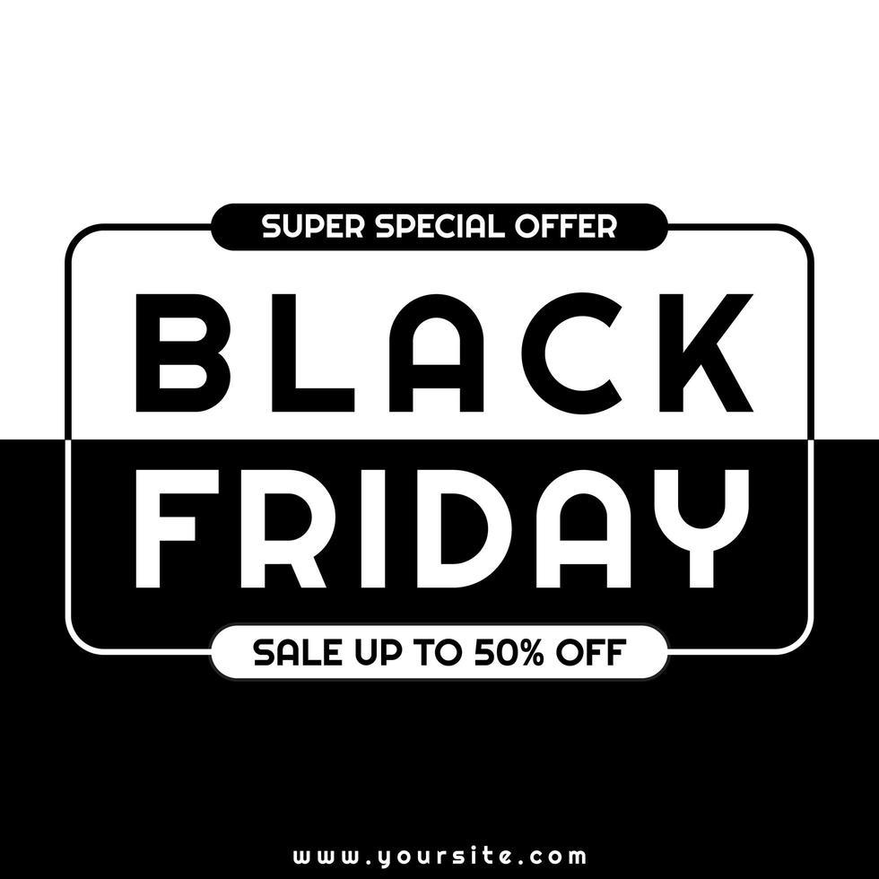 vendredi noir design minimaliste moderne vecteur