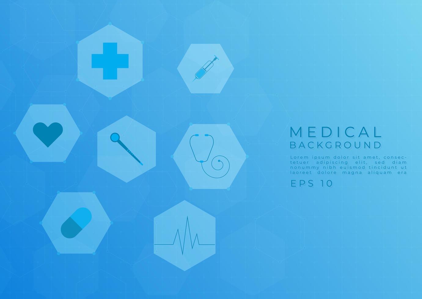 conception moderne de fond médical vecteur