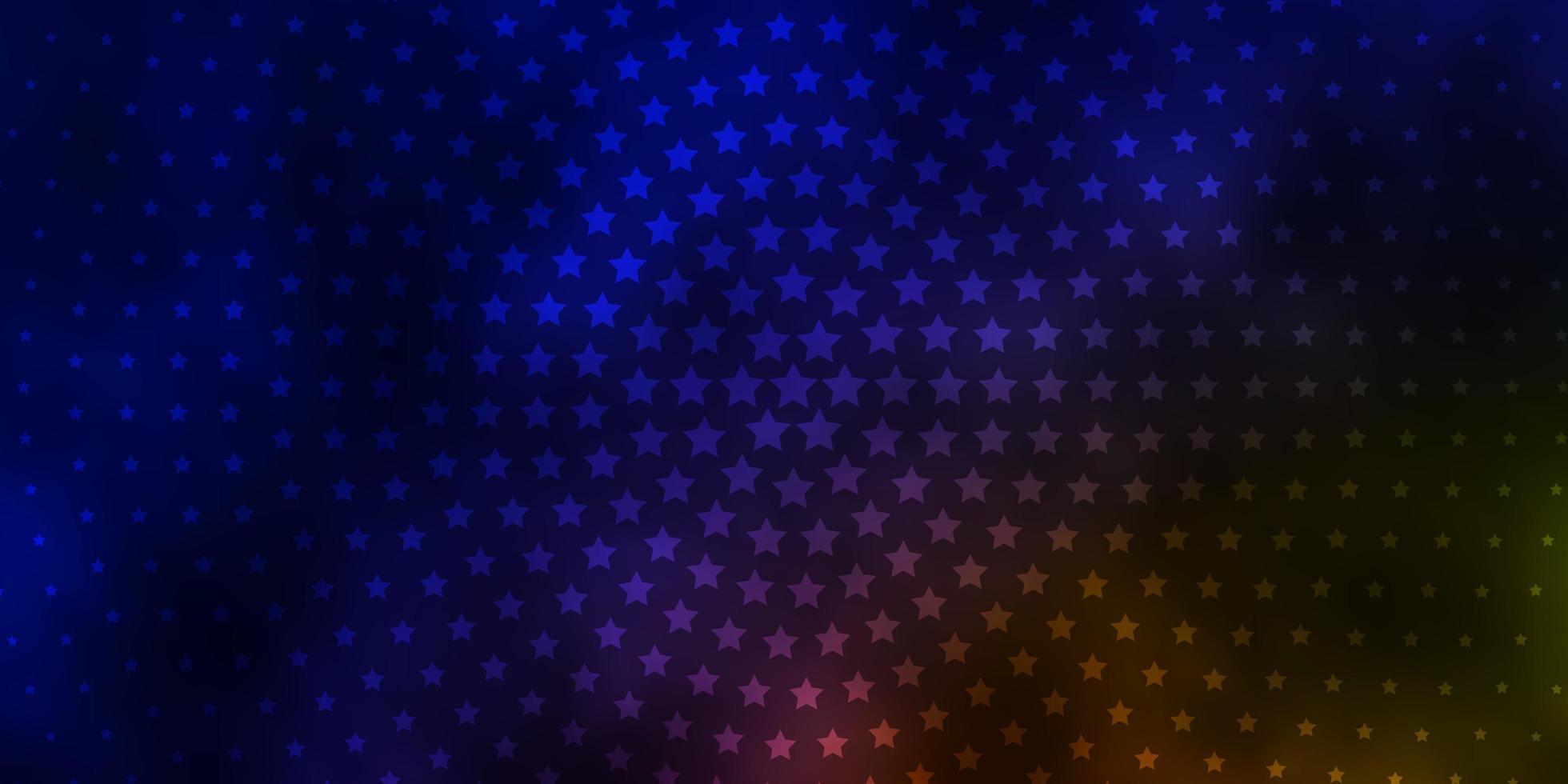 disposition de vecteur bleu foncé, jaune avec des étoiles brillantes.
