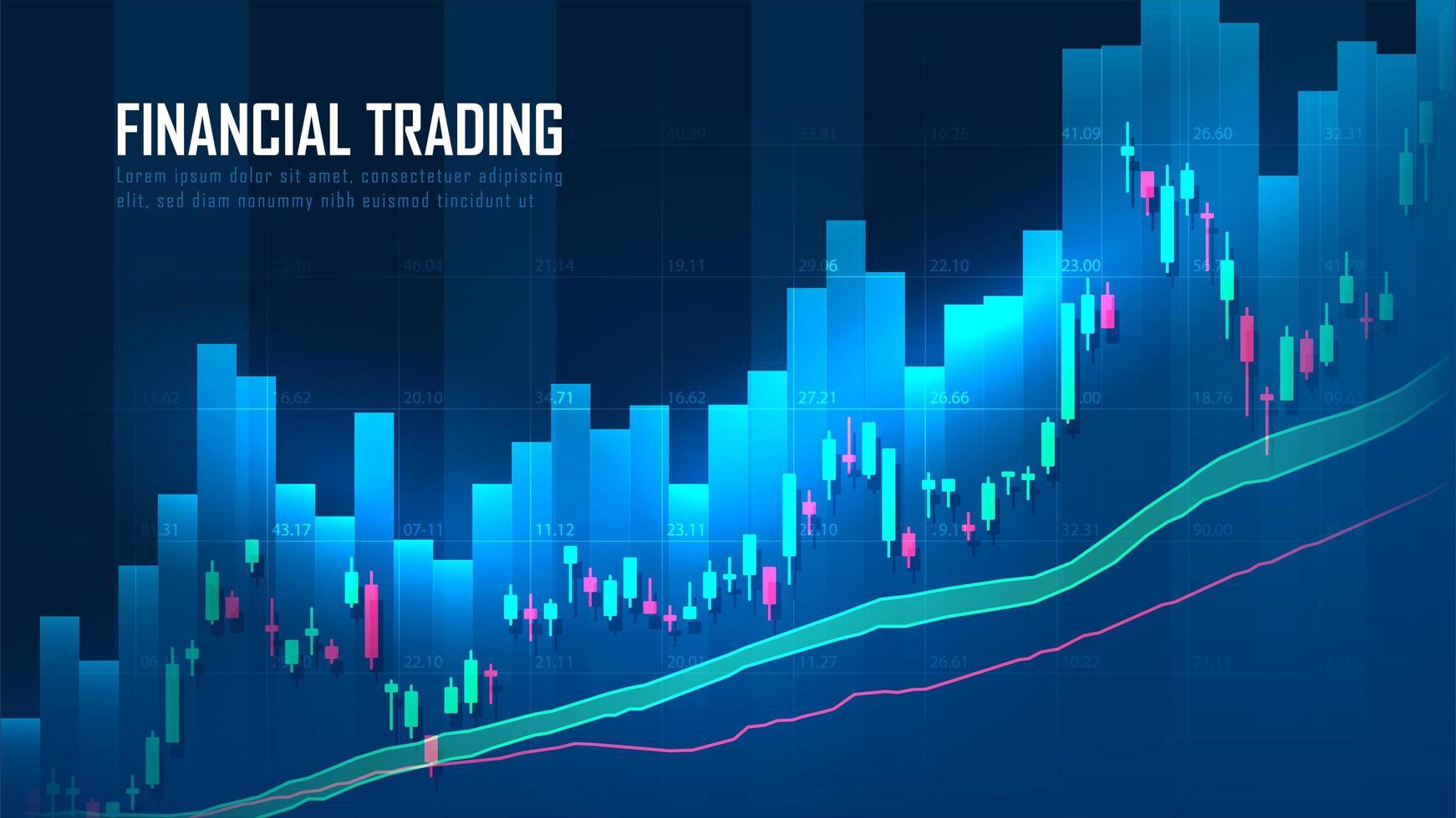 graphique boursier ou de trading forex vecteur