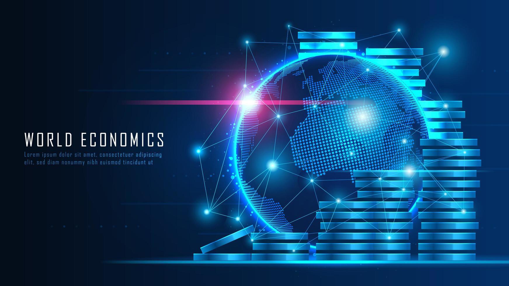 concept financier mondial vecteur