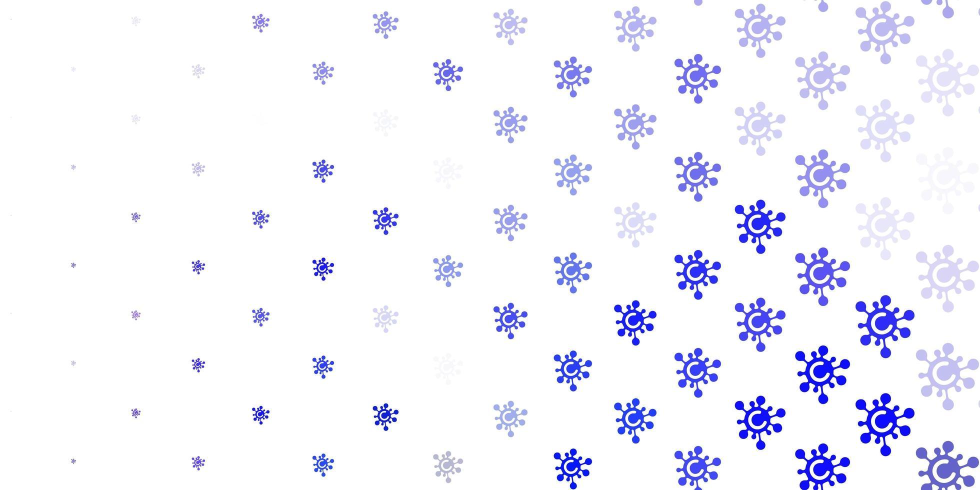 modèle vectoriel violet clair avec des éléments de coronavirus