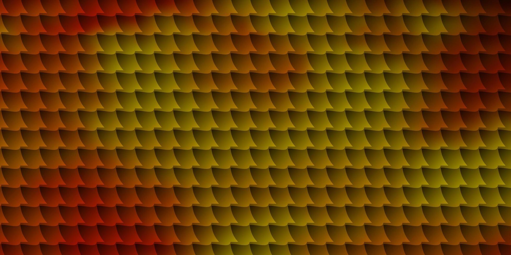 toile de fond de vecteur rouge et jaune clair avec des rectangles.