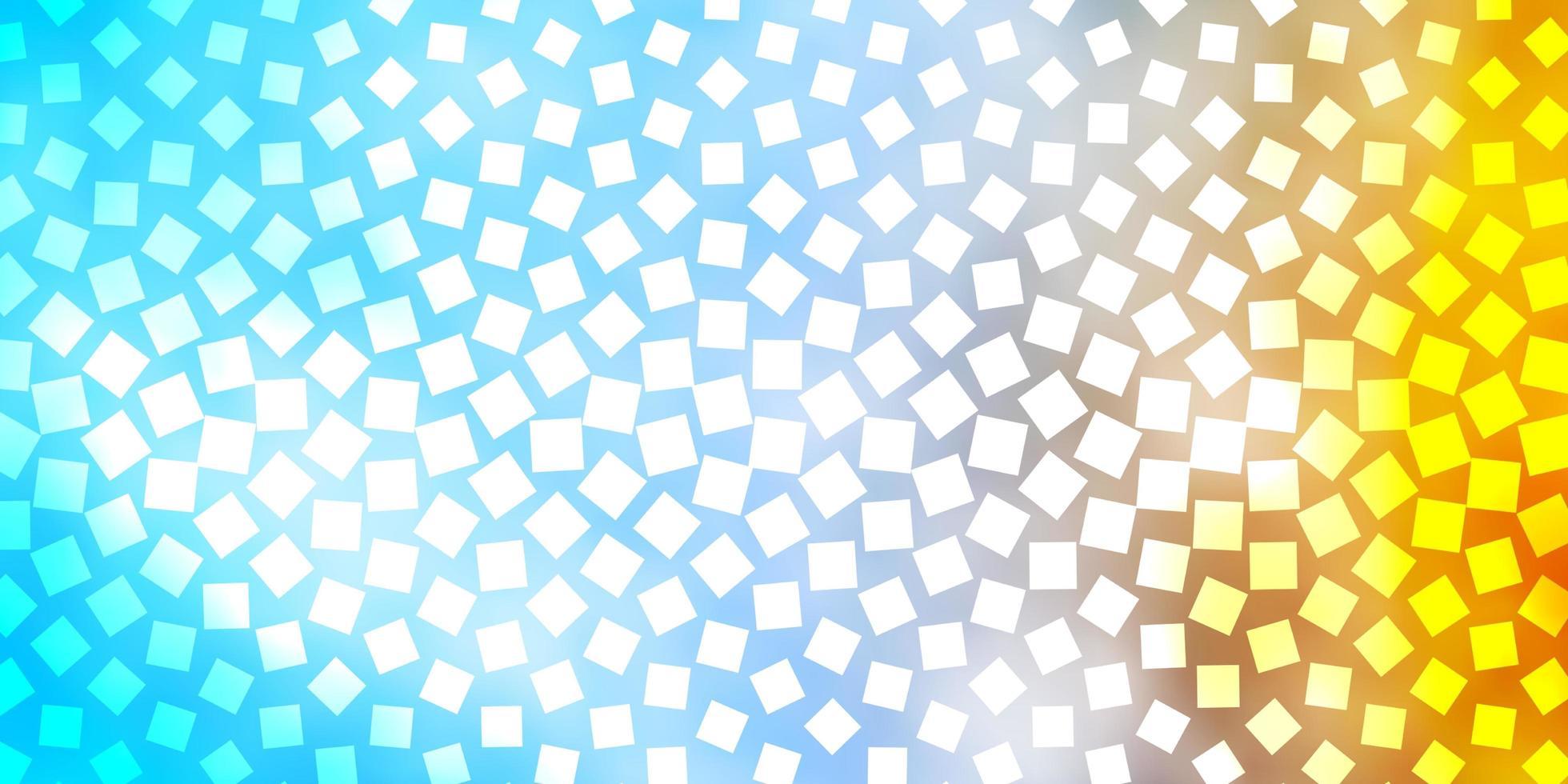 modèle vectoriel bleu clair, jaune dans un style carré.