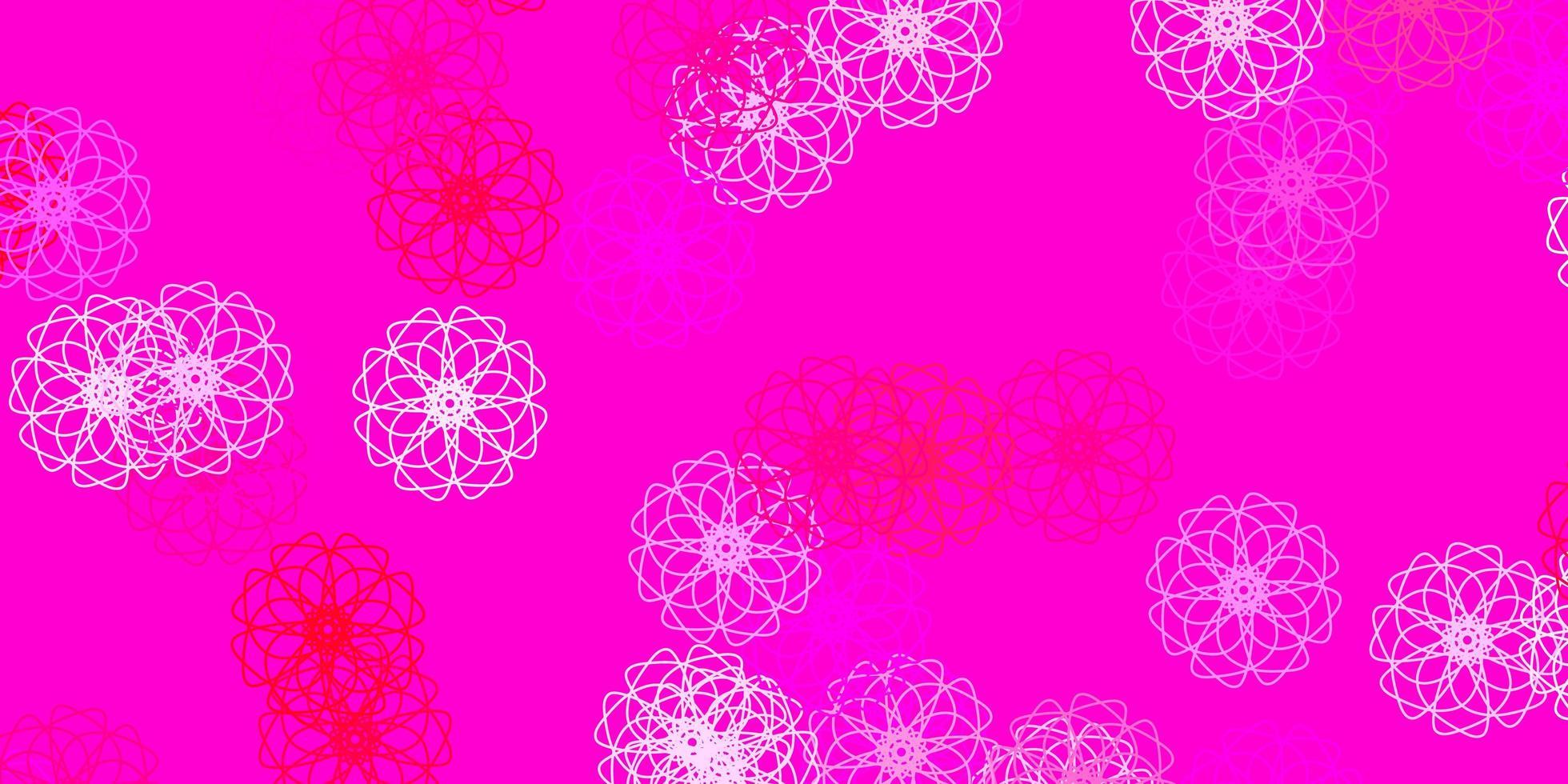 toile de fond naturel vecteur rose clair avec des fleurs.