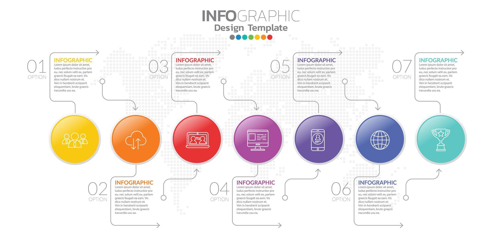 infographie pour concept d'entreprise avec des icônes et des options ou des étapes. vecteur