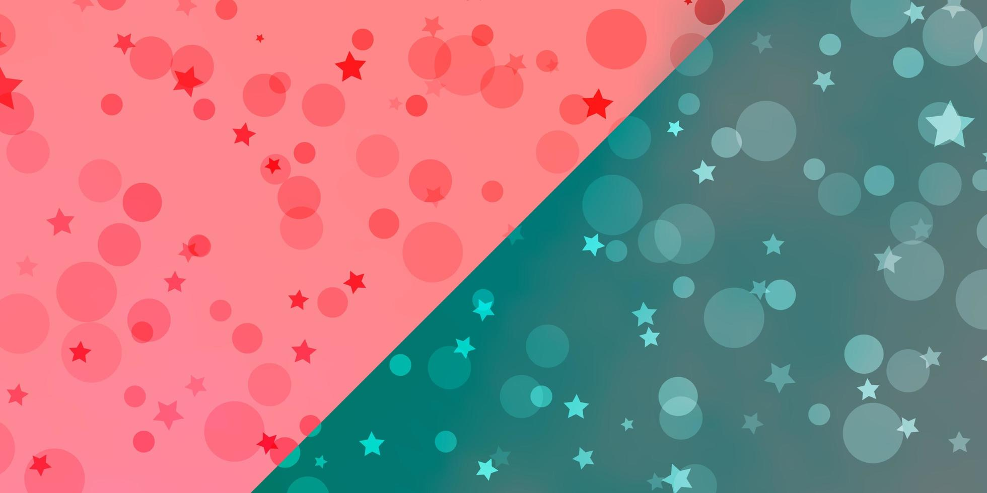 mise en page vectorielle avec des cercles, des étoiles. vecteur