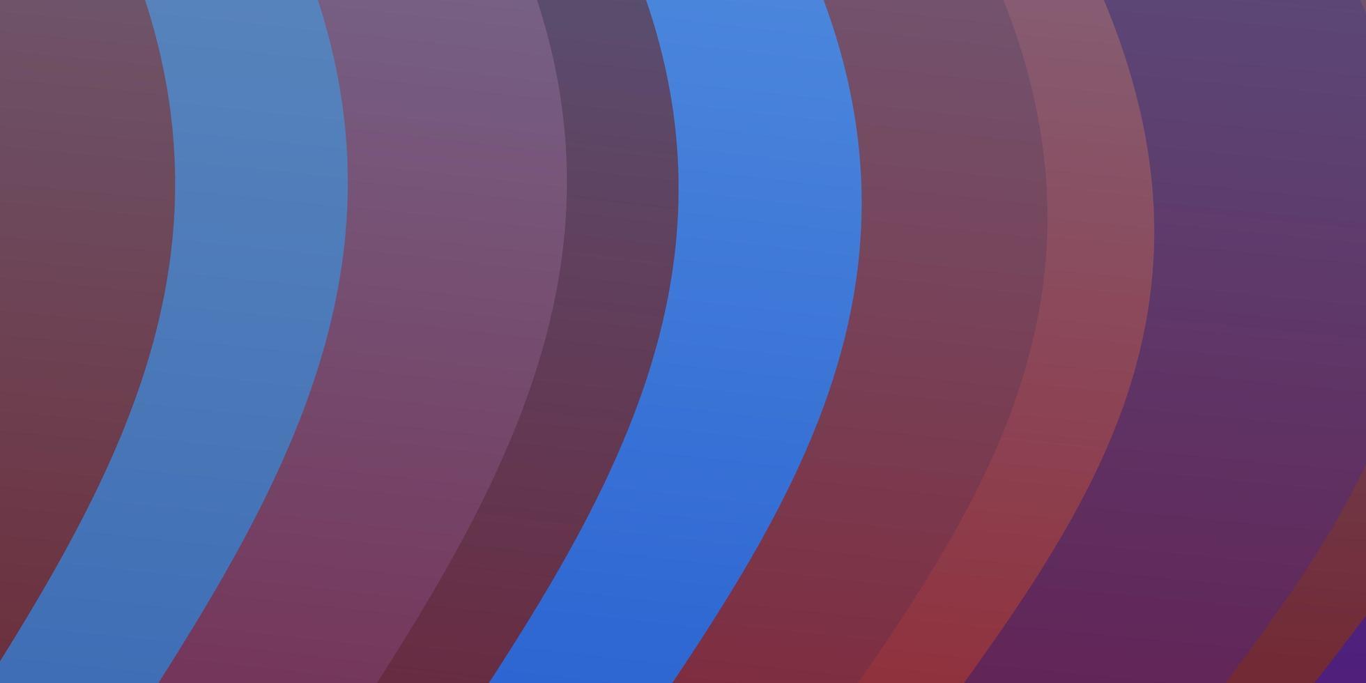fond de vecteur bleu clair, rouge avec des courbes.