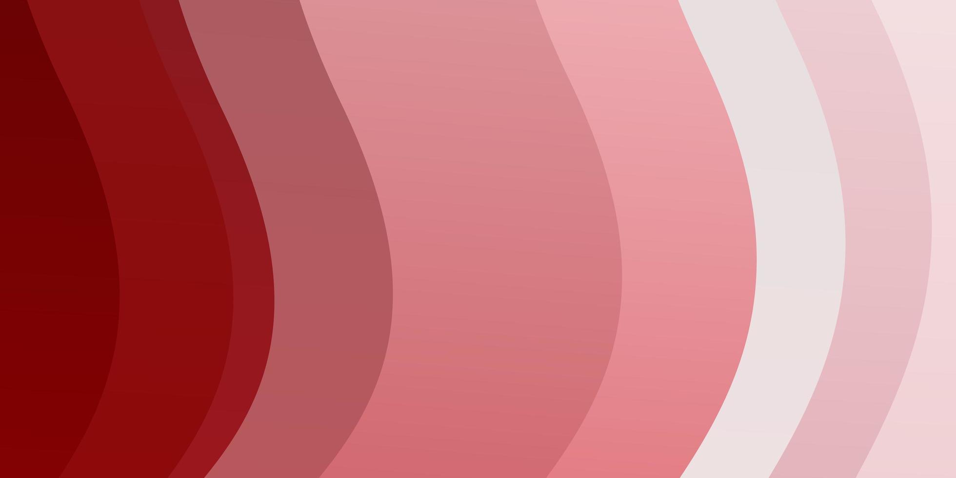 modèle de vecteur rouge clair avec des lignes courbes.