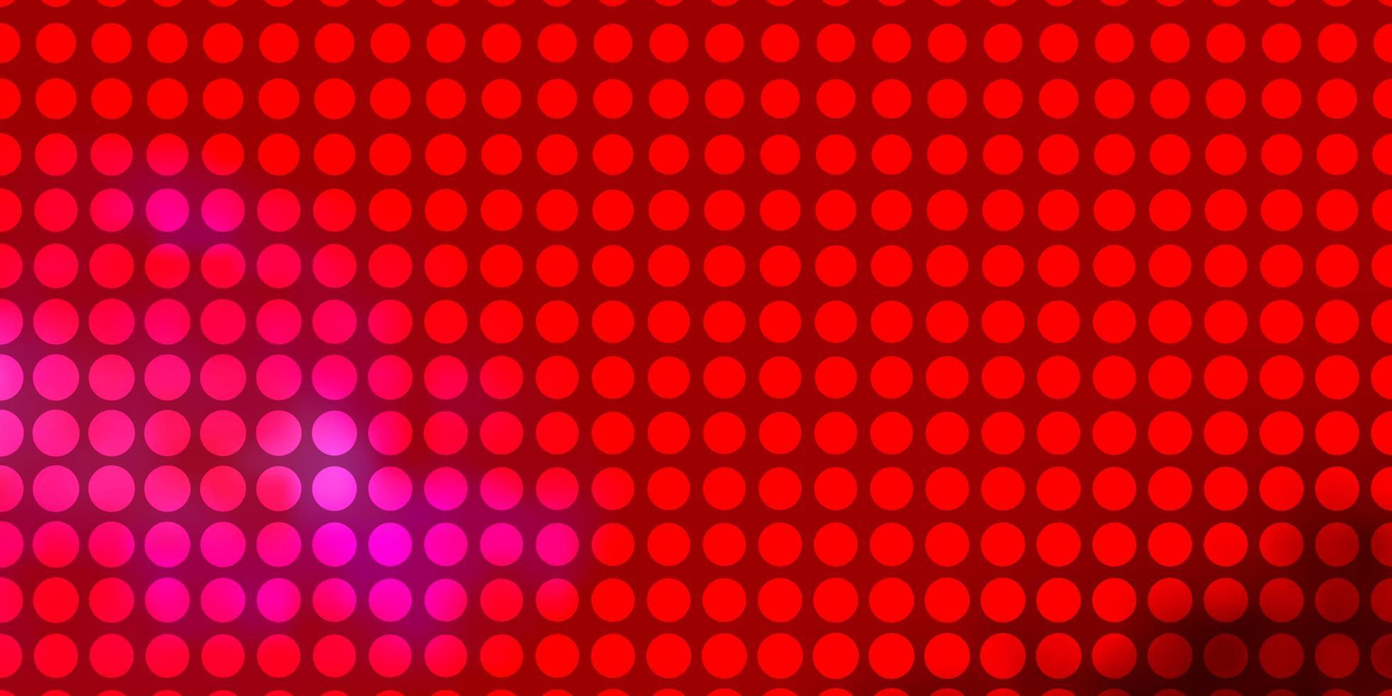 texture de vecteur rouge clair avec des cercles.