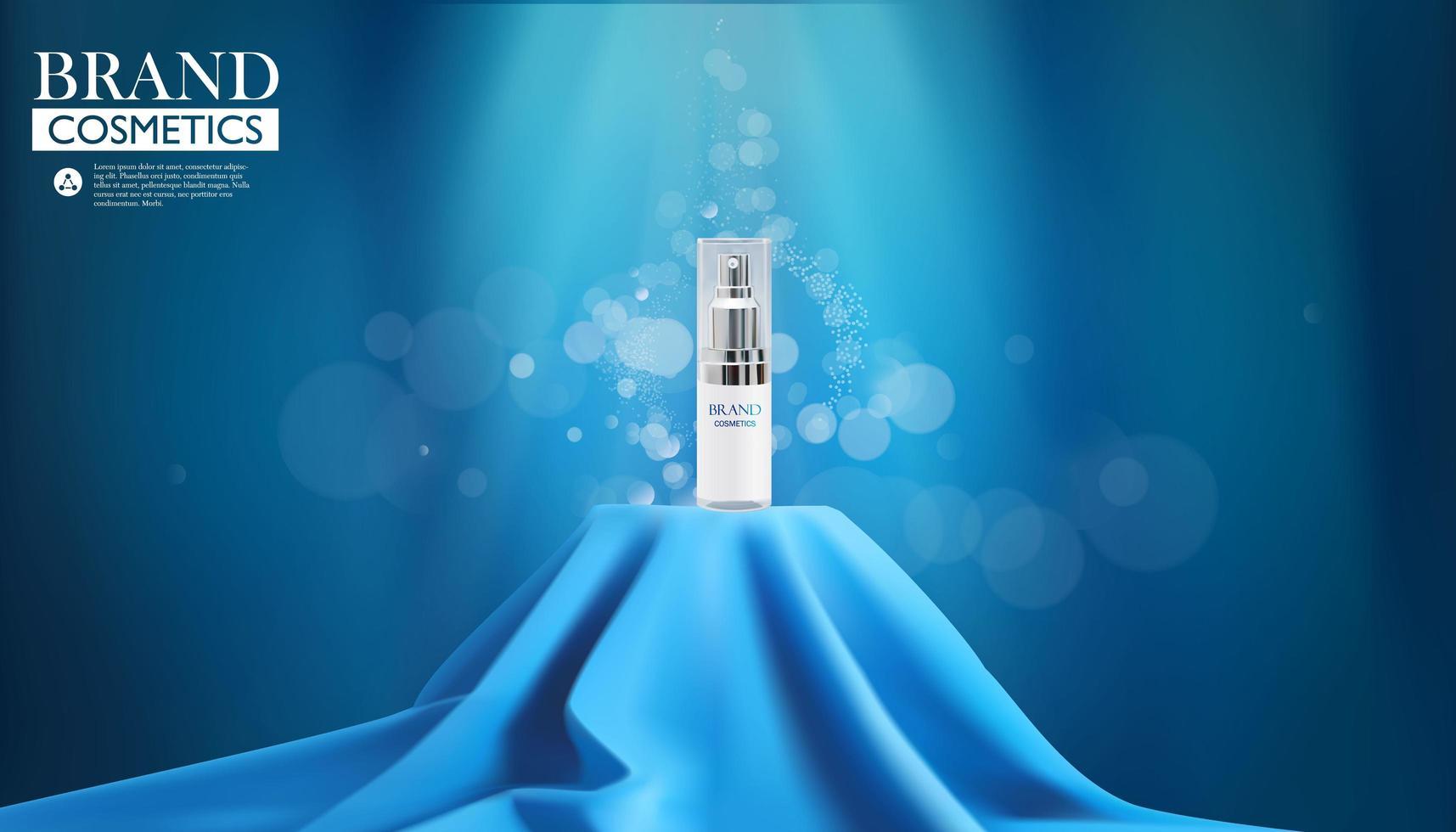 produit cosmétique de luxe sur fond de bokeh vecteur
