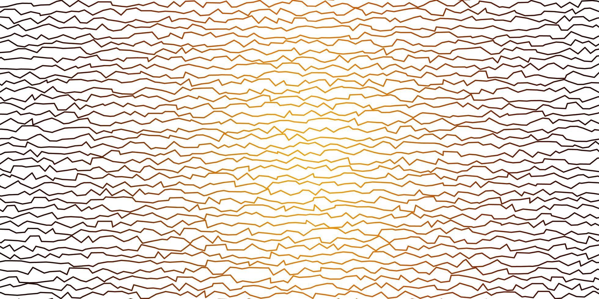 modèle vectoriel orange foncé avec des lignes courbes.