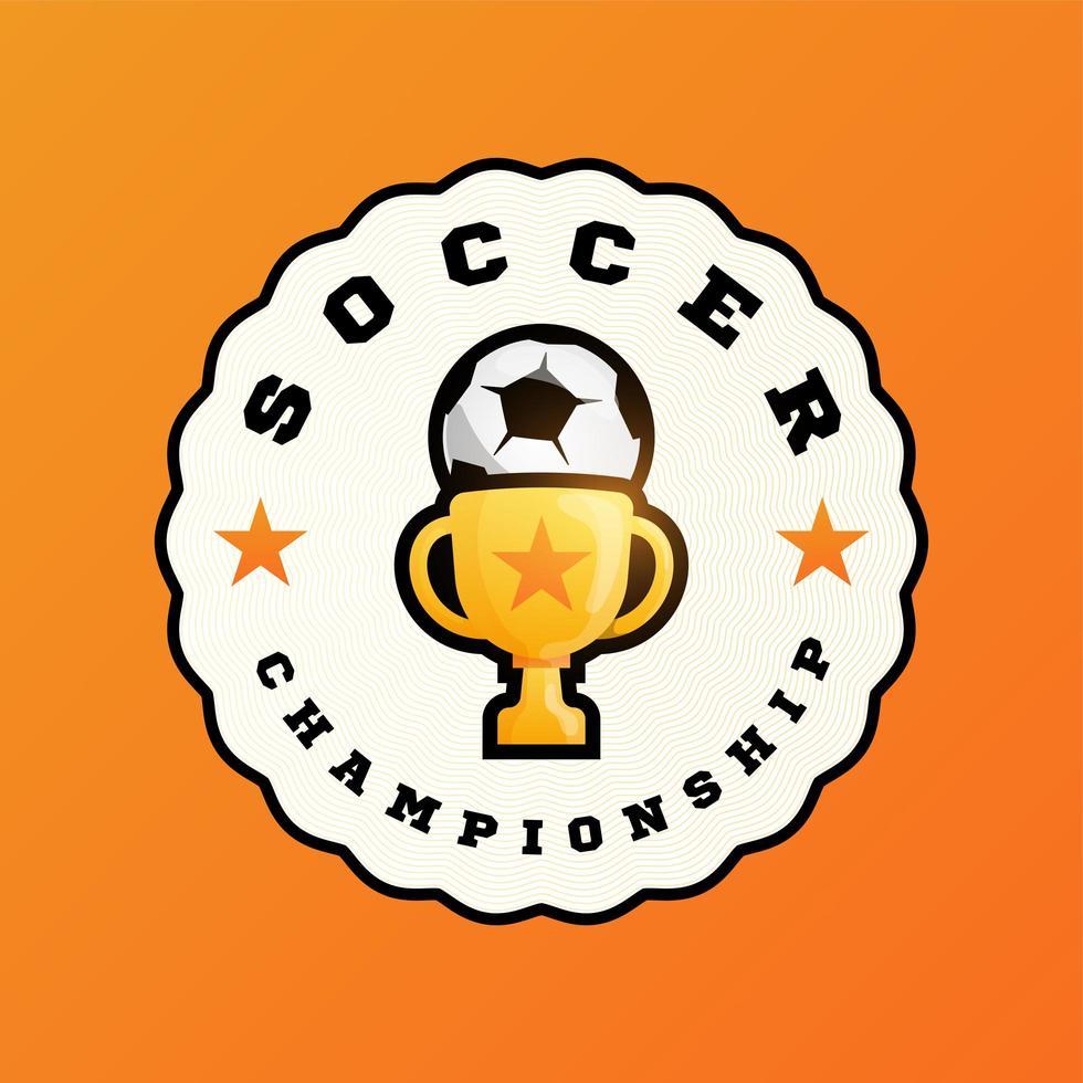 logo vectoriel de football champion 2020
