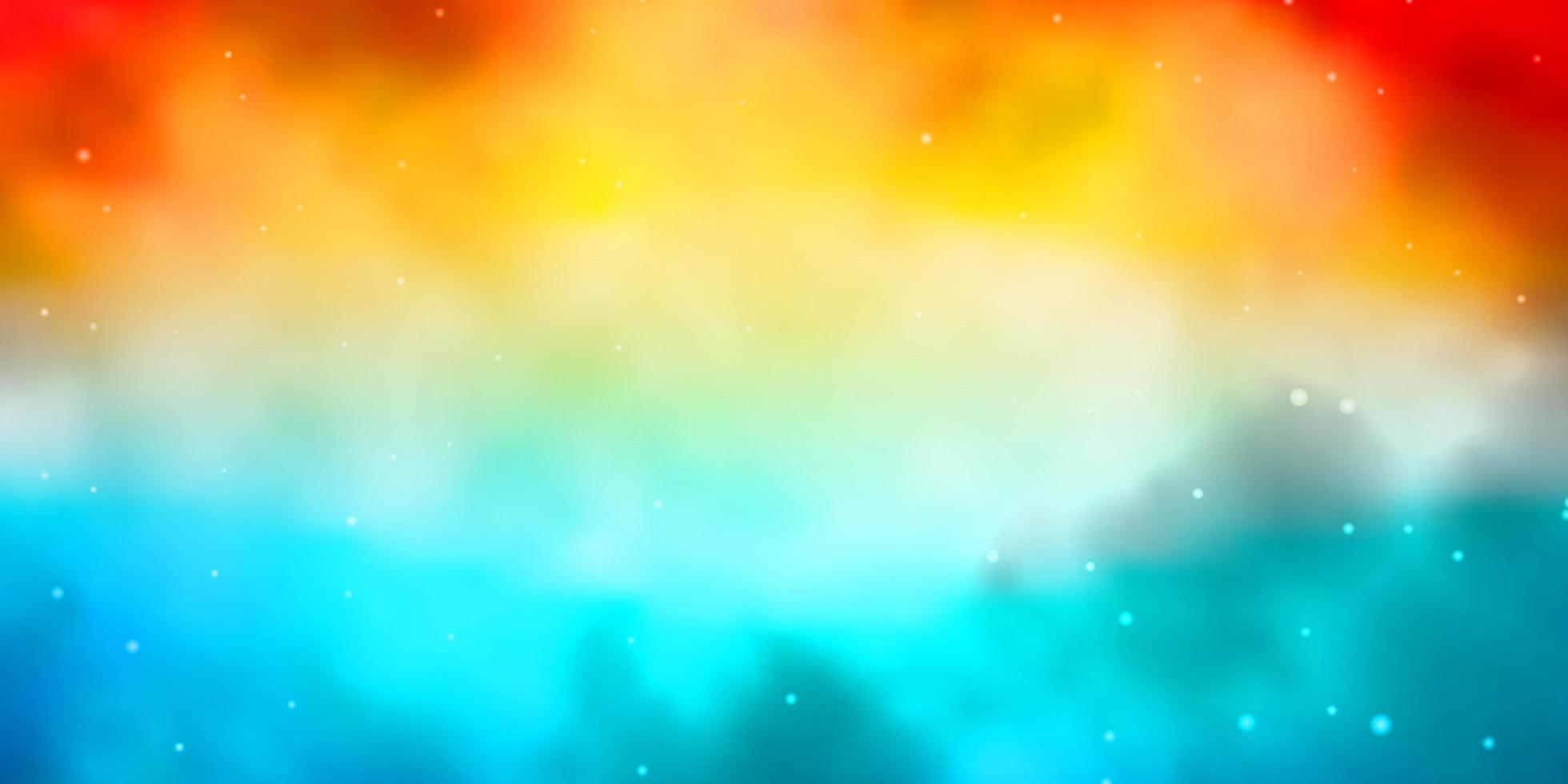 modèle vectoriel bleu clair et rouge avec des étoiles au néon.