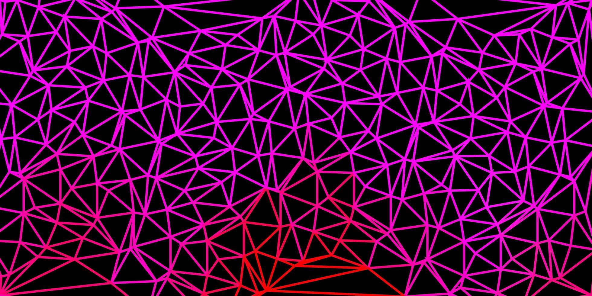 toile de fond polygonale vecteur rose clair.