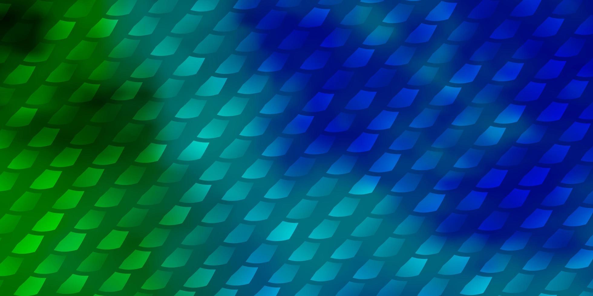 modèle vectoriel bleu clair, vert dans un style carré.