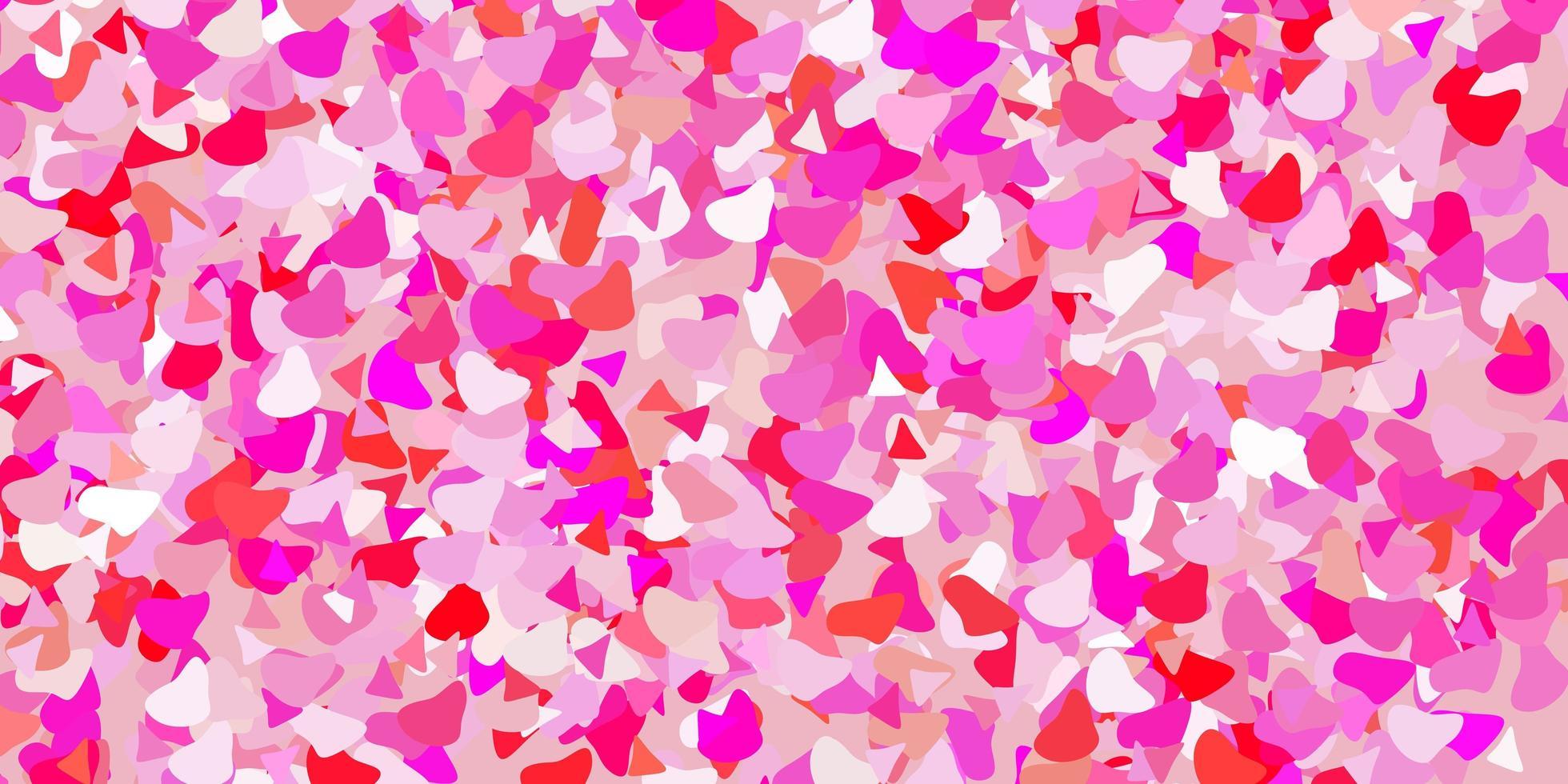 modèle vectoriel rose clair avec des formes abstraites.
