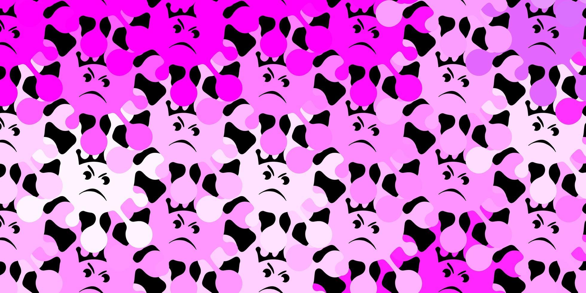 texture vecteur violet foncé avec symboles de la maladie