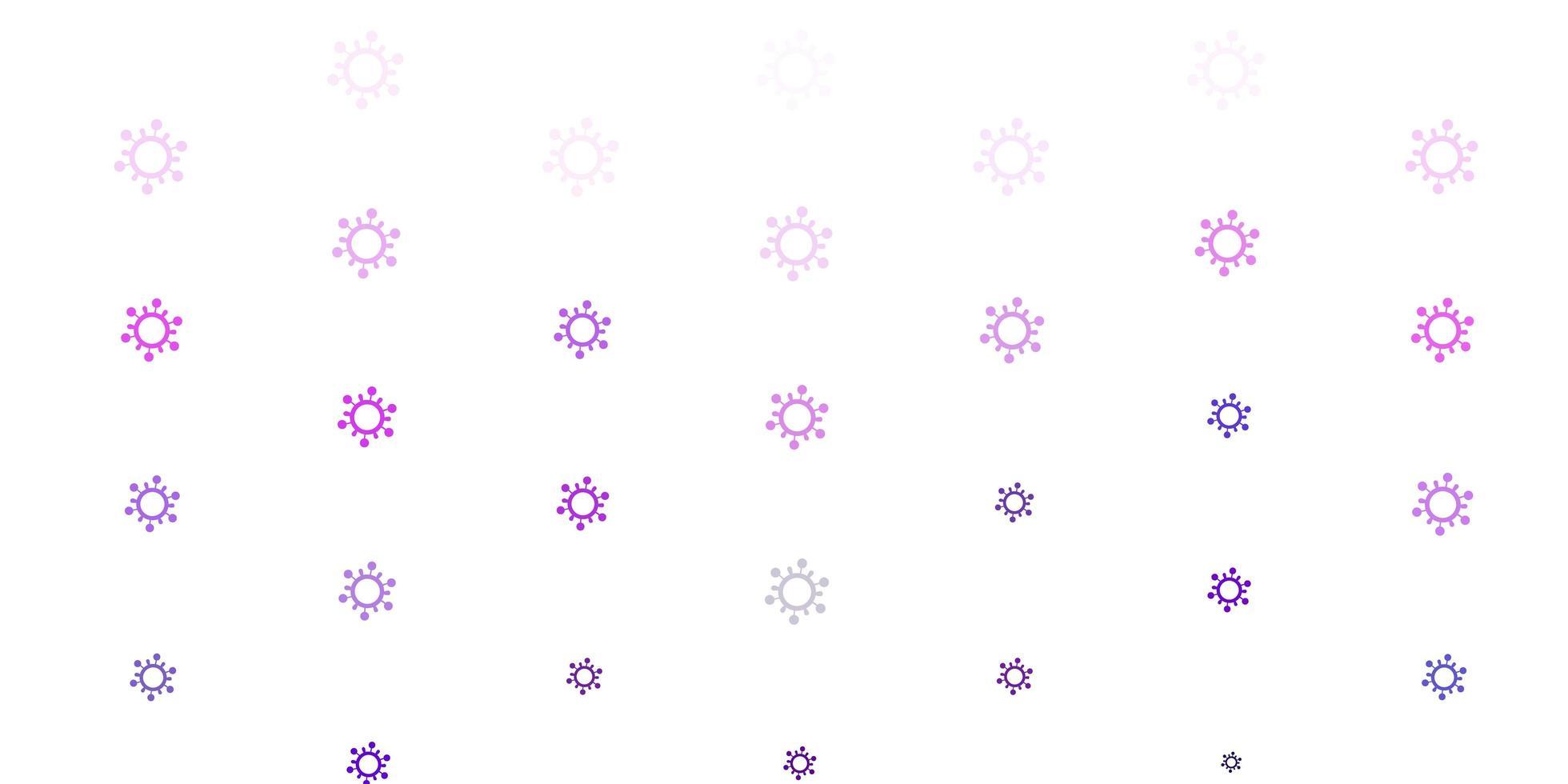 modèle vectoriel violet clair avec des signes de grippe.