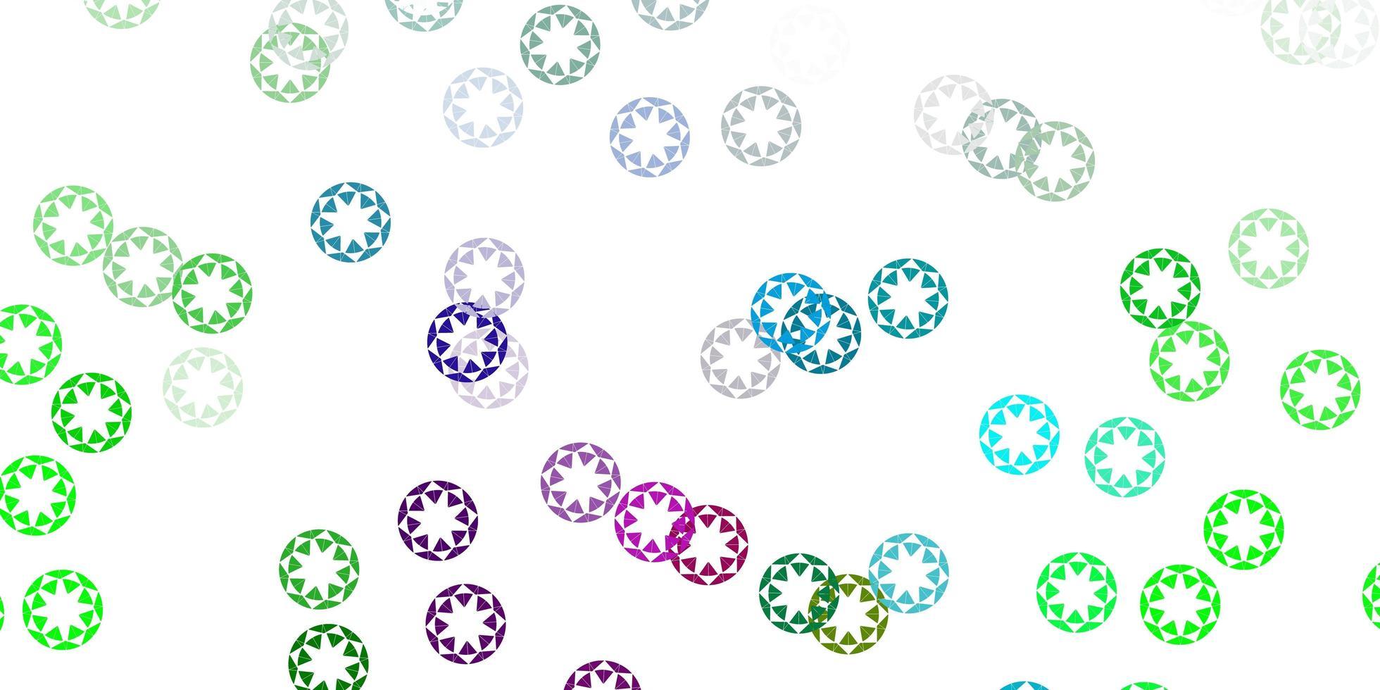 modèle vectoriel rose clair, vert avec des sphères.